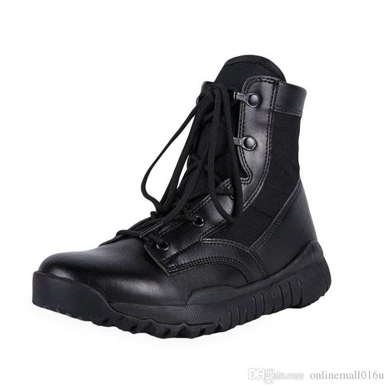 b2da5eda29d Mens Women Ultralight Combat Military Boots Outdoor Tactical Mountain  Hiking Boots Special Forces Army Trekking Boots
