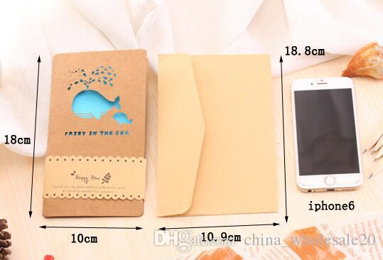 180110mm new vintage kraft paper color hollow happy life gift card 180110mm new vintage kraft paper color hollow happy life gift card greeting card with envelope students diy cards greetings cards birthday greetings cards m4hsunfo