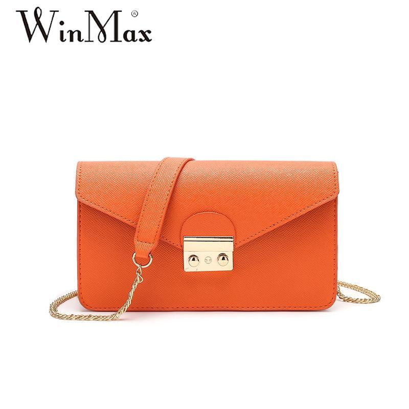 Winmax summer brand small shoulder bag for women messenger bags ladies simple handbag chain female crossbody flap bag
