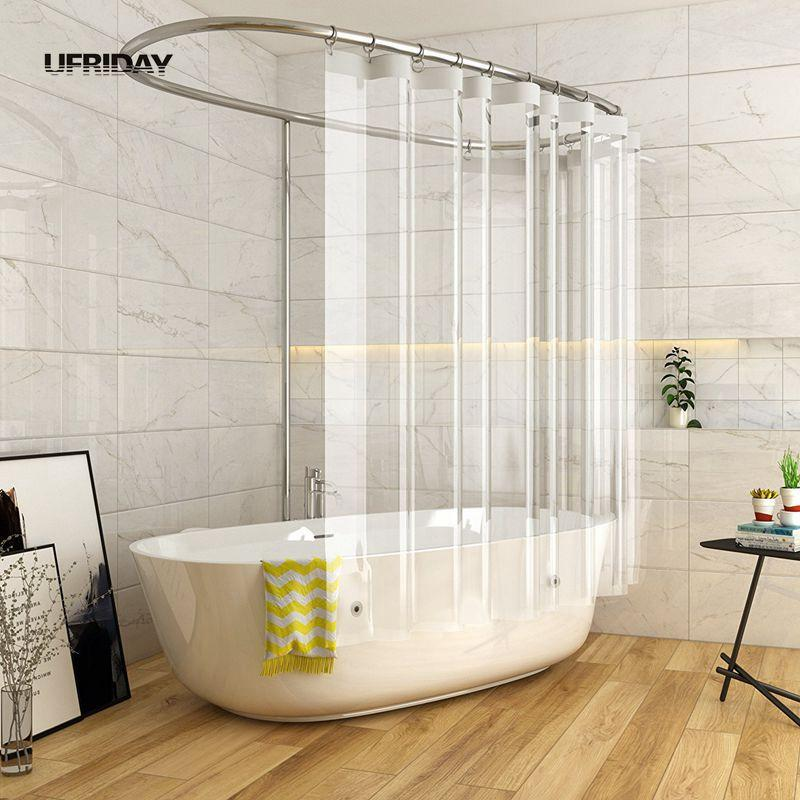 2018 UFRIDAY Shower Curtain Waterproof For Home Hotel Crystal Clear
