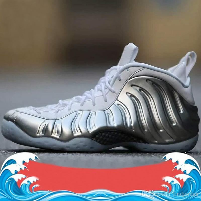 47e6eb1b6e5 2019 2018 New WMNS Foam One Chrome Basketball Shoes For Men Penny Hardaway  White Chrome Blue Tint Mens Running Sneakers From Findjordan