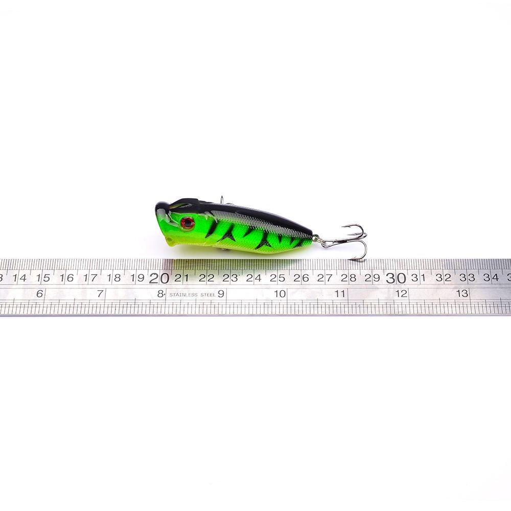 5 adet Sert Balıkçılık Lures 5 Renkler Popper Lure 7.3 cm 11g Balıkçılık Bait 6 # Yüksek Karbon Çelik Kanca Olta Takımı