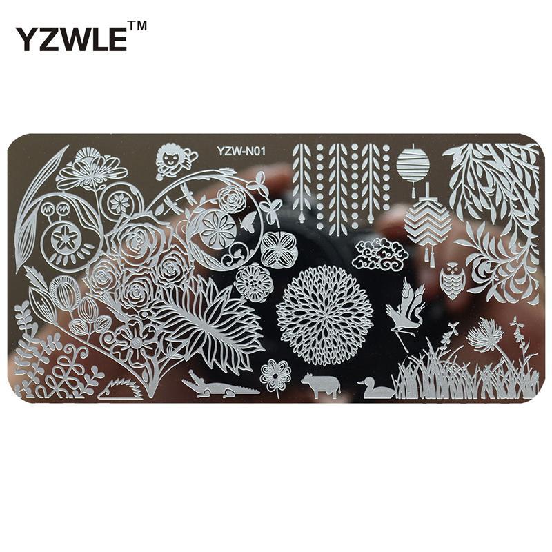 2017 Charming Spring Design Nail Art Image Stamp Stamping Plates