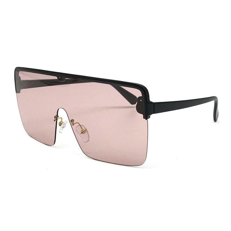 9b6ad382e5 2019 New Sunglasses Oversize Women Sunglasses Large Frame Black Wind Men  Sun Glasses Retro Square Rimless Glasses NX Running Sunglasses Sunglasses  Case From ...