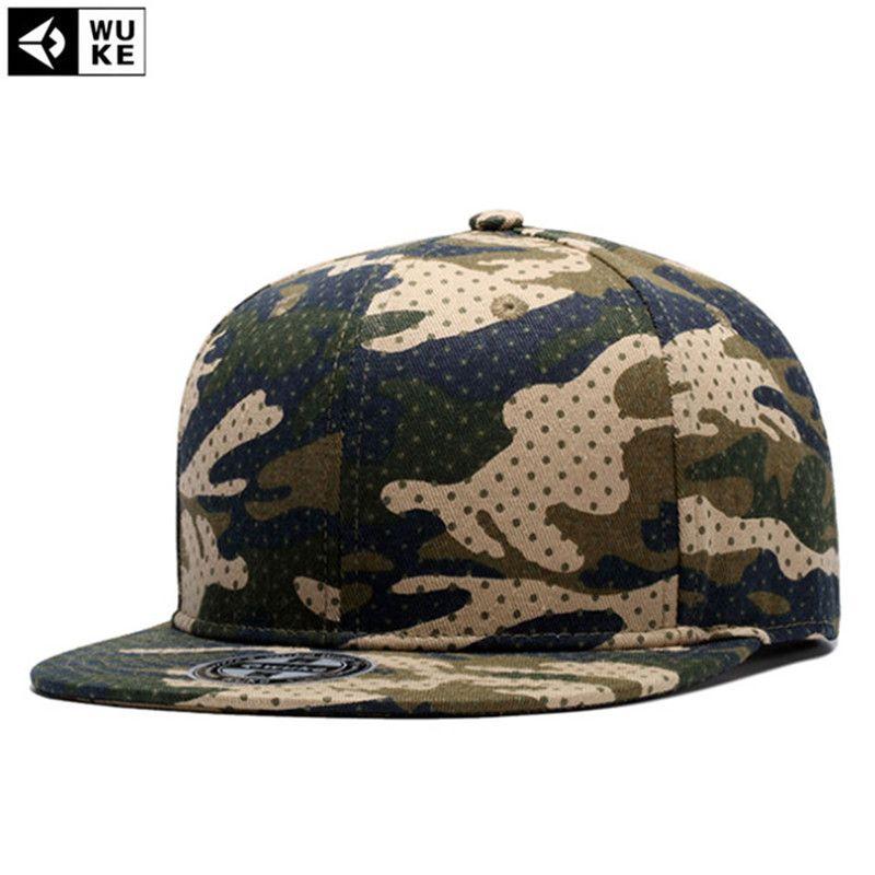 WUKE Brand High Quality Camo Camouflage Pattern Baseball Cap Flat ... 9fb8fcf28f5a