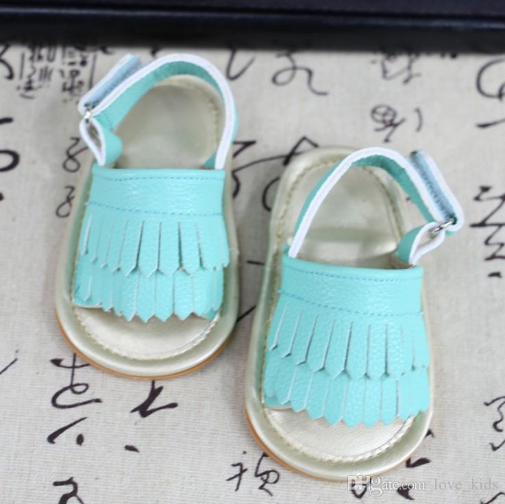 Baby girls cute sandals tassel summer baby sandals soft sole PU child girls shoes non-slip infant soft toddlers kids shoes