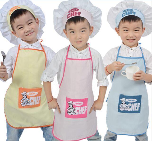 Acquista Junior Chef Poliestere Grembiule Bambini E Cappello Da Cuoco Child  Cooking Baby Apron Avental De Cozinha Divertido Pinafore A  25.17 Dal  Windomfac ... 02181d3e1bfe
