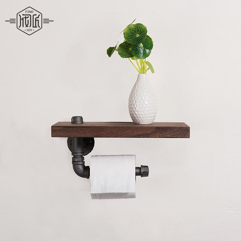 kitchen towel holder wall mounted. 2018 Industrial Iron Pipe Wall Mounted Toilet Paper Holder Kitchen Towel Rack Roll Tissue With Wood Shelf From Doost, $66.14 | Dhgate.Com D