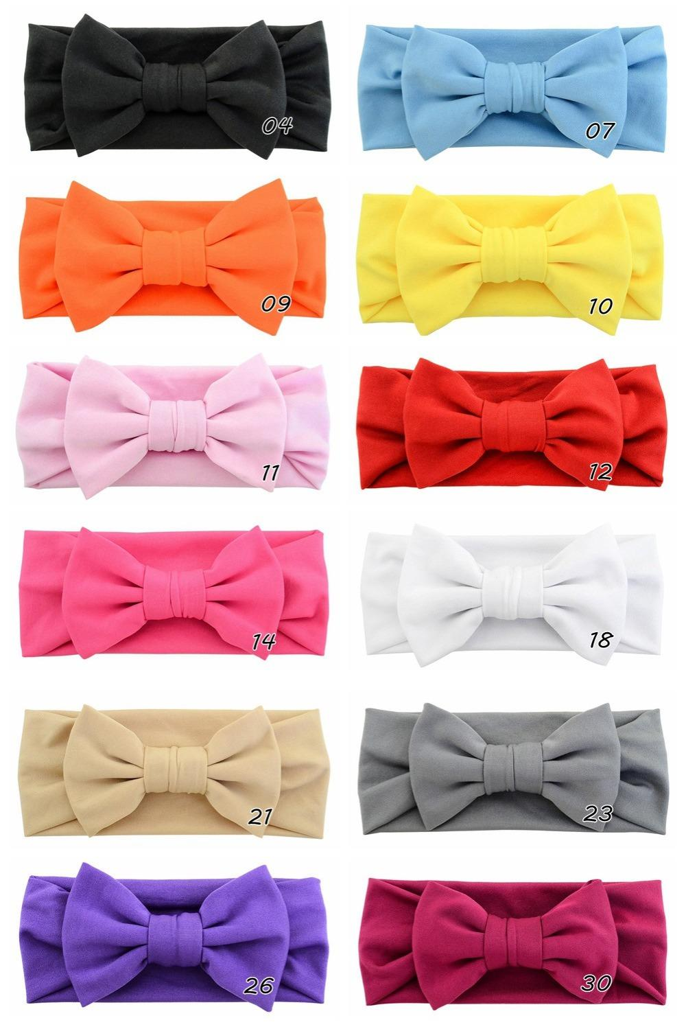 New Headband Knot Tie Headwrap Kids Hairband Bandanas Turban stretchy Girls Hair Accessories Summer Style 748