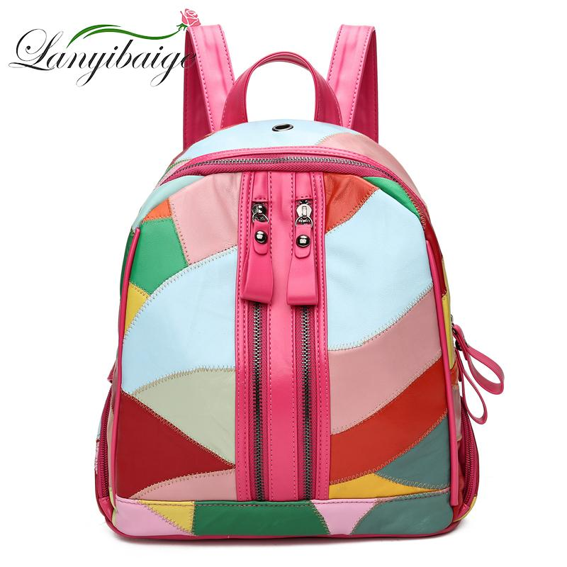 2018 Fashion Women Backpack High Quality Youth Leather Backpacks For  Teenage Girls Female School Shoulder Bag Bagpack Jansport Big Student  Backpack Tactical ... f05ce2e4f8e5a