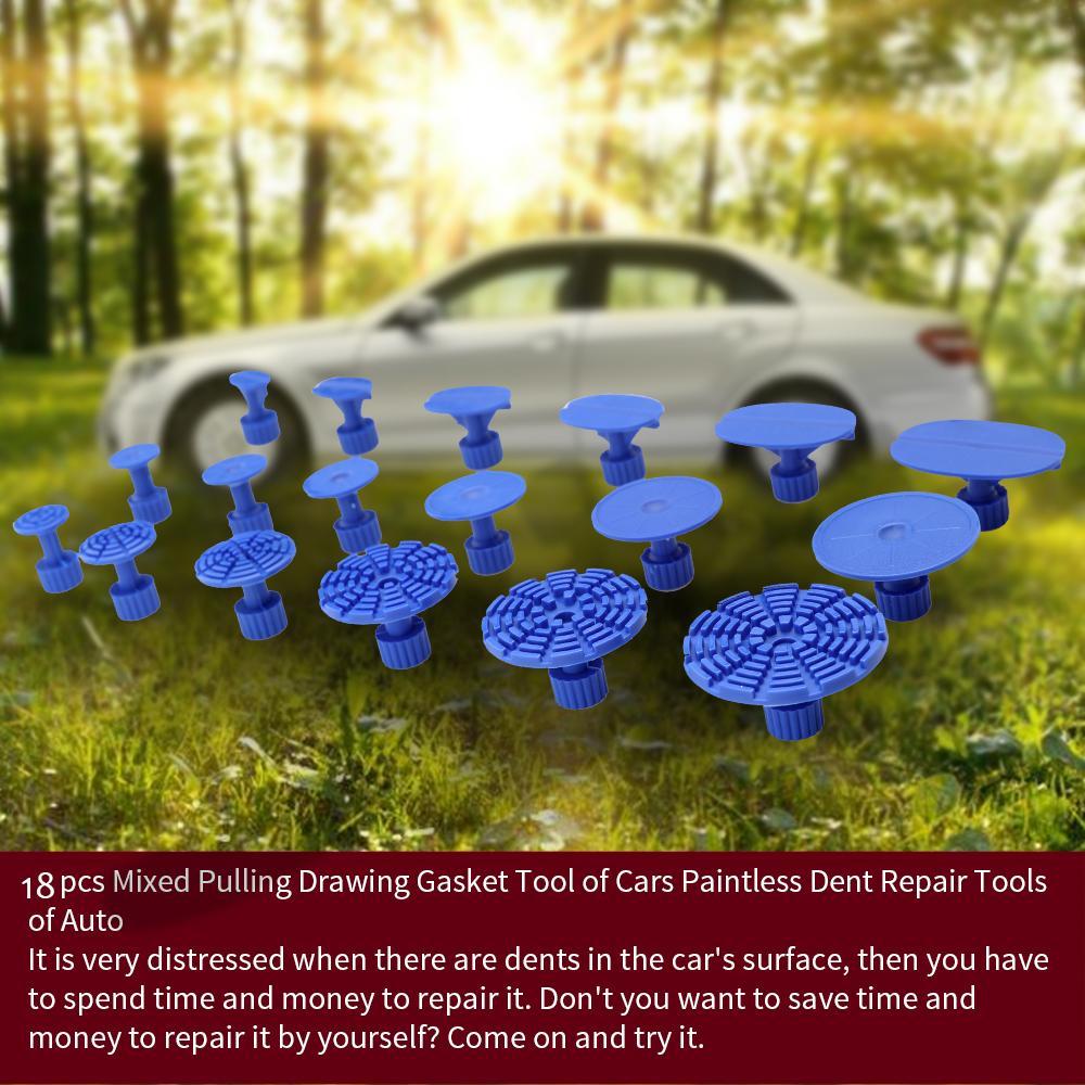 18pcs herramientas de reparación de pintura abolladura del coche Dent Taladro pegamento pestañas para sin pintura reparación de abolladuras de reparación de abolladuras sin pintura