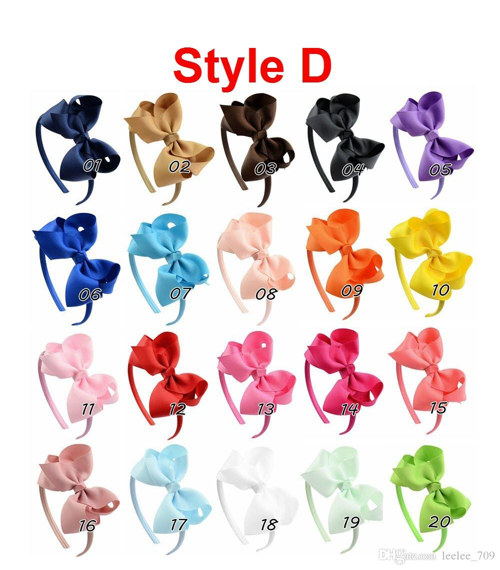4 pollici Infanti Hair Hoop Ribbon Bow Stick ragazze 2017 Fashion Kids Baby Doppi fiocchi Headwear Hairs Accessori INS