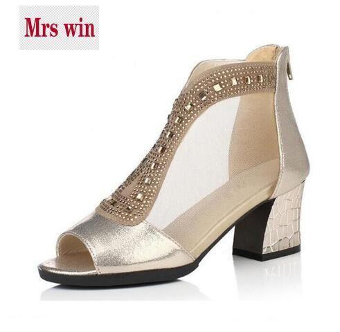 bd54399773769 New Rhinestone Mesh Fish Head Summer Women Sandals 2017 Bestselling ...