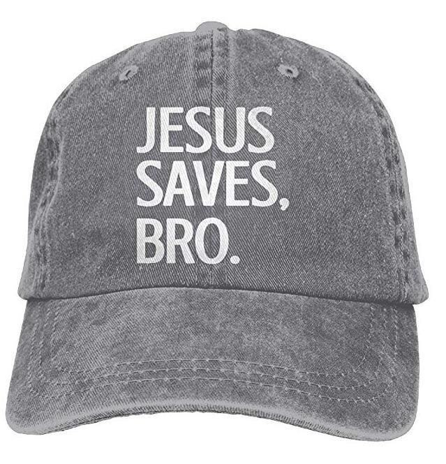 f95f492a8d3 Jesus Save Bro. Adult Cowboy Hat Baseball Cap Adjustable Athletic ...
