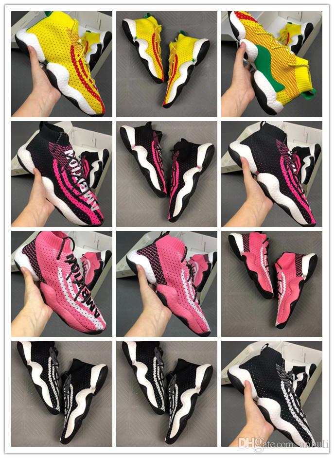 bcdf6622d AAA+ Quality New Pharrell Crazy BYW LVL 1 Human Race Breathable White  Yellow Men Byw Fly Basketball Trainers Tennis Shoe Sneakers Spikes Shoes  Best Running ...