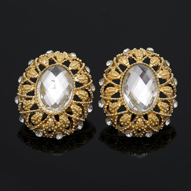 2018 Bridal Gift Nigerian Wedding African Beads Jewelry Set Brand Woman Fashion Dubai Gold Color Jewelry Set Wholesale Design