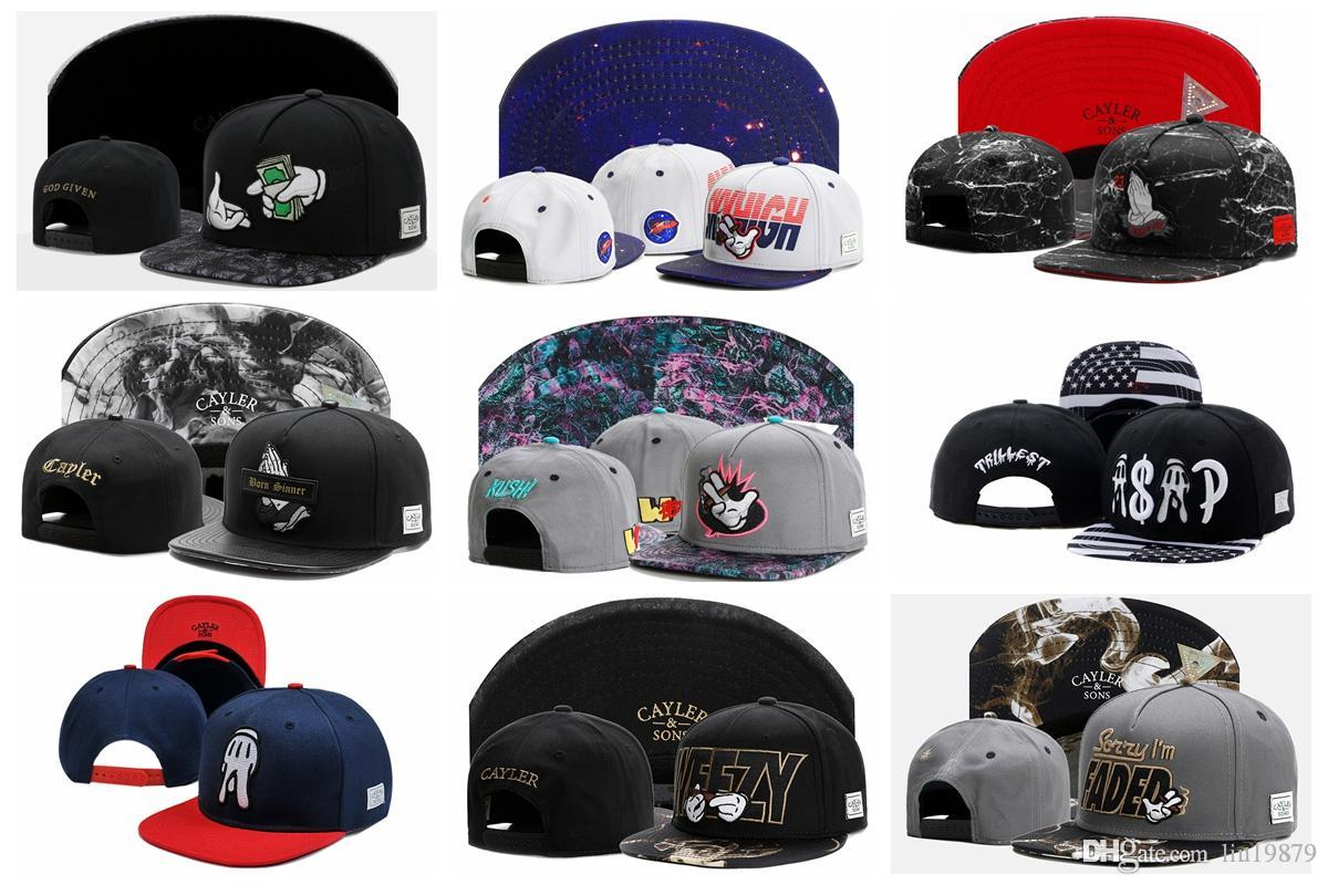 High Quality Cayler & Sons Snapback hats Embroidery Brand Flat Brim  Baseball Caps Hip Hop Cap and Hat For Men and Woman