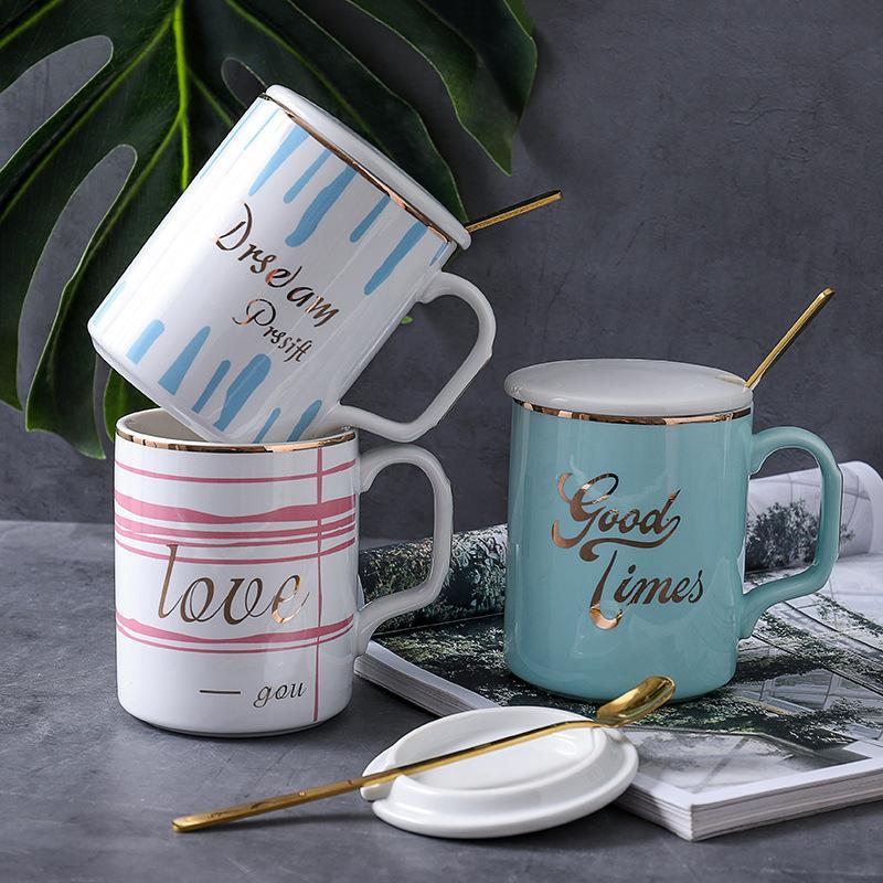 nordic ins small fresh coffee mug gilt letters business ceramic cup student lovers cup mug gift mugs gift mugs online from merryseason 3034 dhgatecom