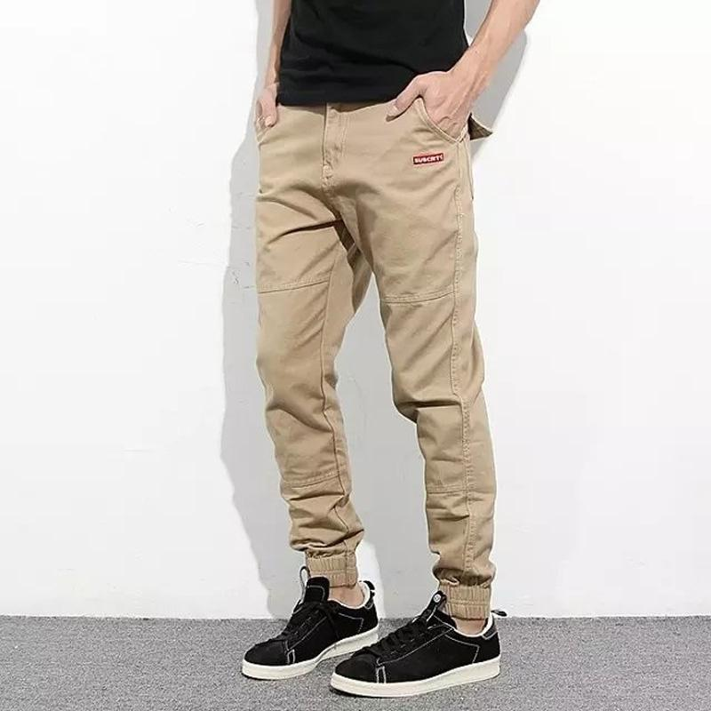 aaf9e20b3 Fashion Streetwear Men s Jeans Casual Pants Khaki Black Color Cargo Pants  Summer Jogger Brand Classical Jeans Men