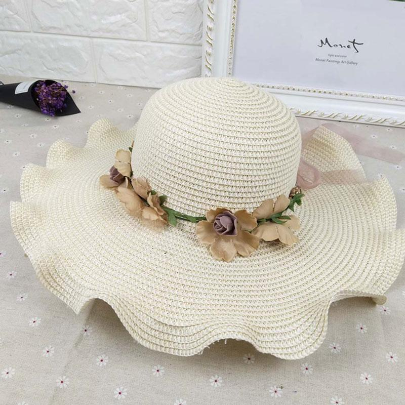 daaf1f50 Summer Outdoor Casual Women'S Hat Fashion Sun Hats Flower Beach ...
