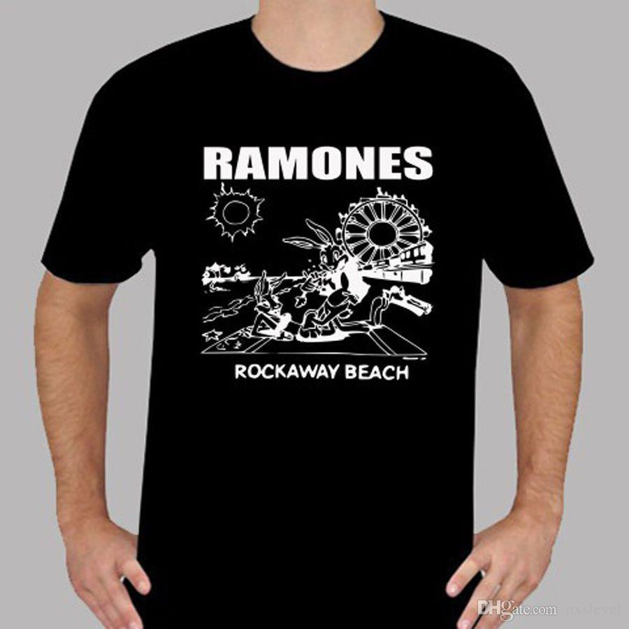 7244b007 THE RAMONES Rockaway Beach Punk Rock Band T Shirt Link Shirts T Shirt T  From Nxslevel, $10.21| DHgate.Com