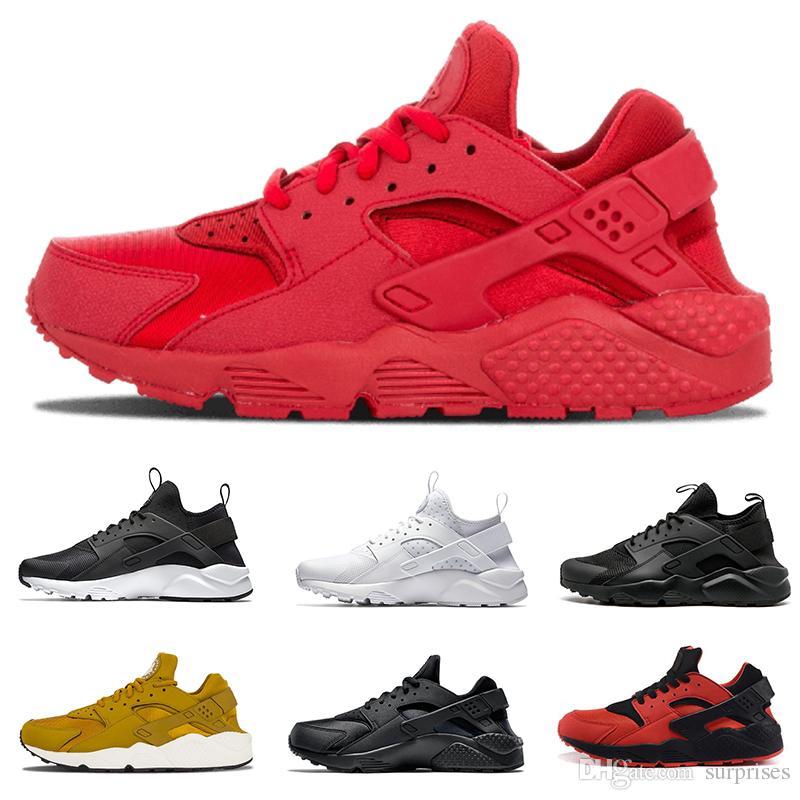 349ae6d2e574 Air Huarache 4.0 1.0 Running Shoes For Mens Womens White Huraches ...