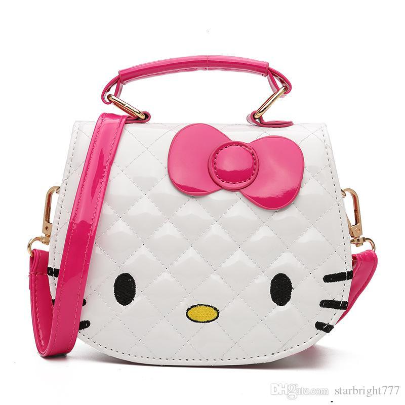 70f1c8b4f5a8 Christmas Gift Kids Purse Cat Children Cartoon PU Leather Bag Crossbody  Single Shoulder Bag Handbag Baby Mini Bag Cute Design Purses For Toddlers  Pink Bags ...