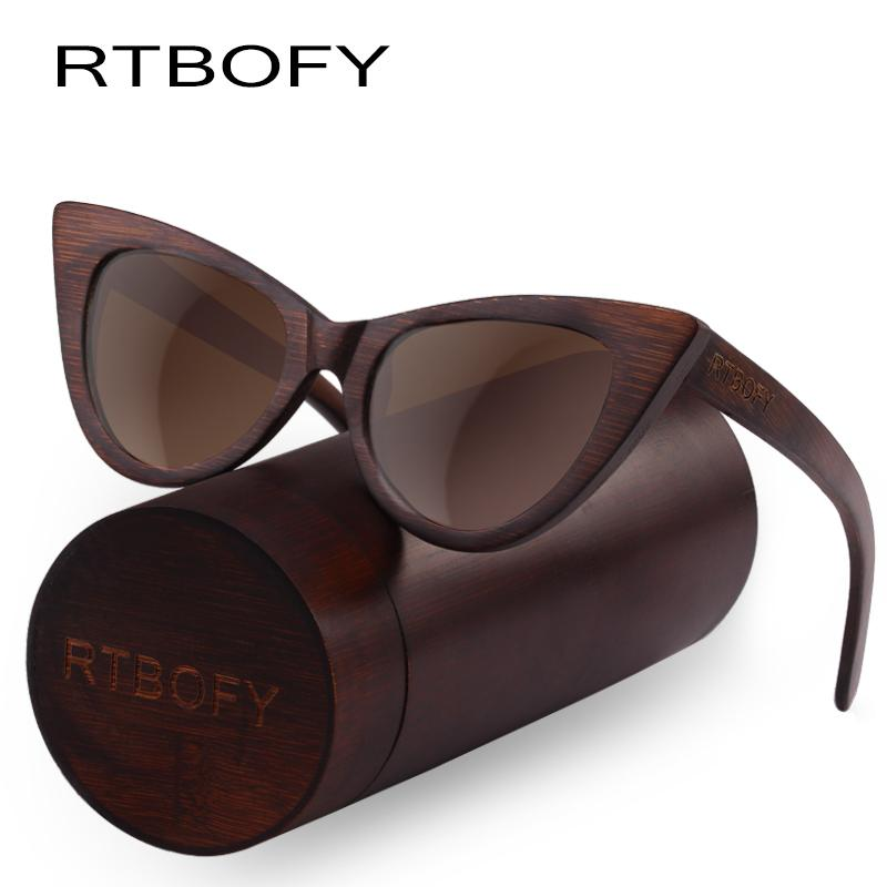 69b3cf044b RTBOFY Wood Sunglasses Women Bamboo Frame Eyeglasses Polarized Lenses  Glasses Vintage Design Shades UV400 Protection Eyewear Mirror Sunglasses  Boots ...