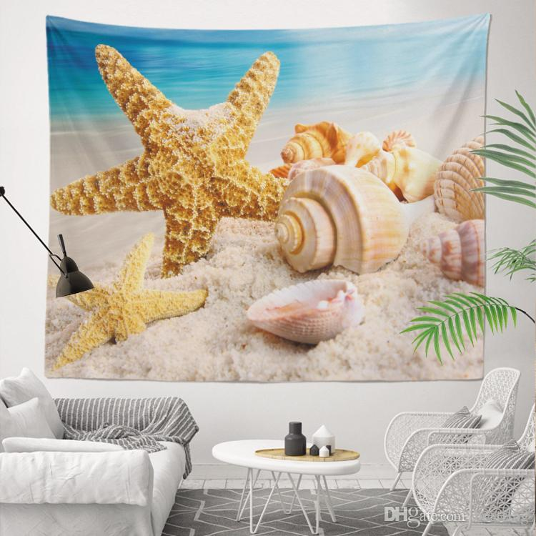 Vendita all'ingrosso Custom Made Miglior prezzo di fabbrica Stampa a sublimazione 130x150 cm Mare onde Paesaggio 400g Arazzo da parete la decorazione della casa