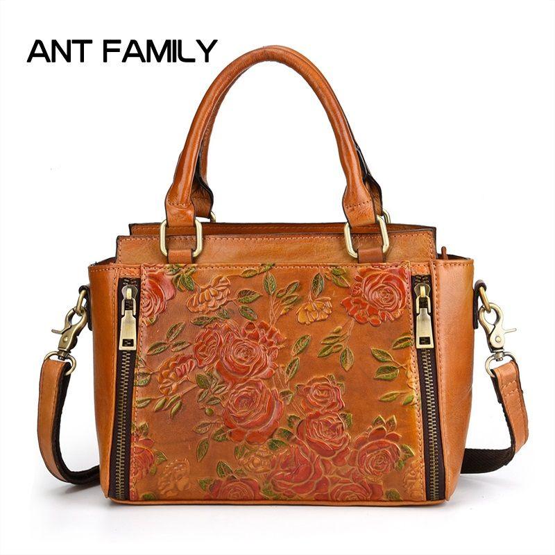 267c437b7a31 Women Genuine Leather Handbag Designer Luxury Handbags Purses Ladies ...