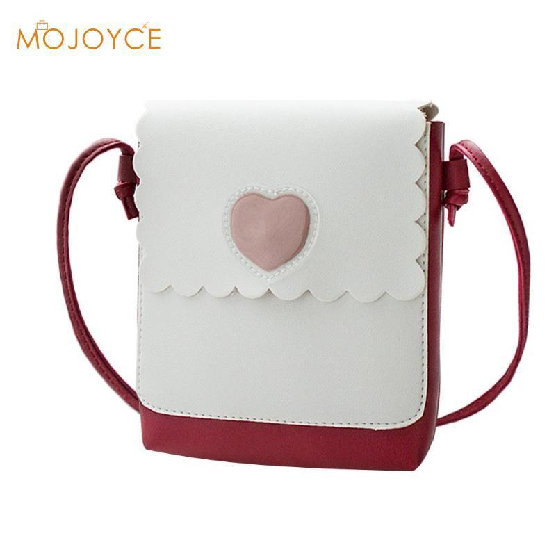 Fashion Girls Mini Shoulder Bags Teenage PU Leather Heart Print Crossbody  Bag Cute Soft Hasp Messenger Bags For Women 2018 New Leather Handbags Hand  Bags ... 1c9656bd99