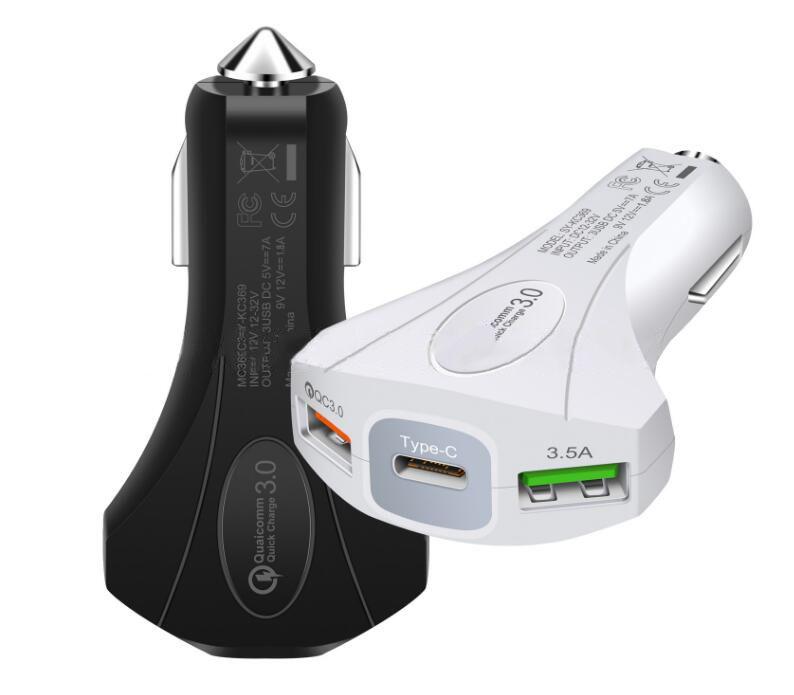 купить подзарядку для телефона Top Qc30 3 порта Usb Type C