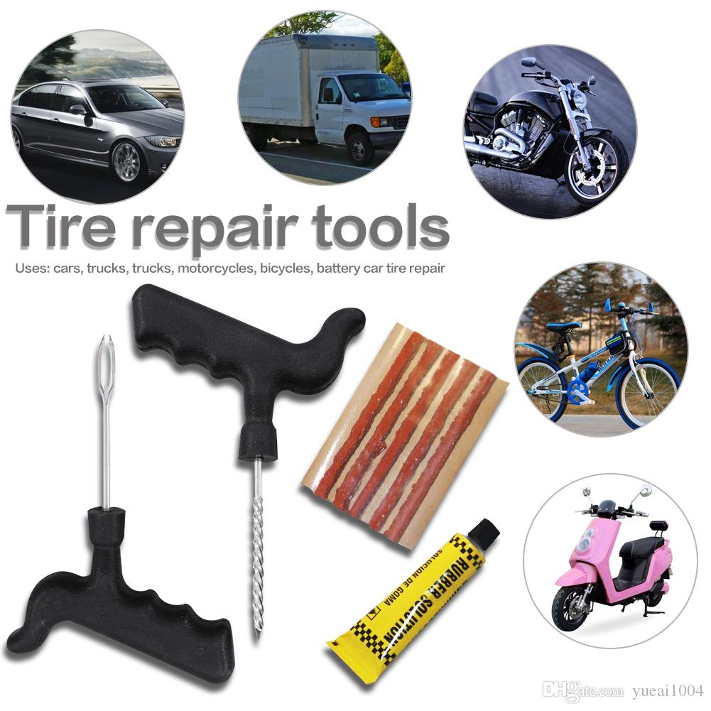 2018 Tire Repair Kit For Cars Trucks Motorcycles Bicycles Auto Tyre Tubeless Emergency Fast Puncture Plug From Yueai1004