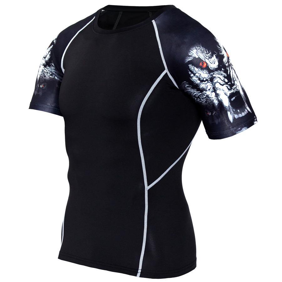 9119bae04 Running T Shirt Men Wolf Punisher 3D Tshirt Sport Shirt Men Quick Dry Gym  Rashgard Fitness Top Compression Tight Jerseys Running T-Shirts Cheap  Running ...