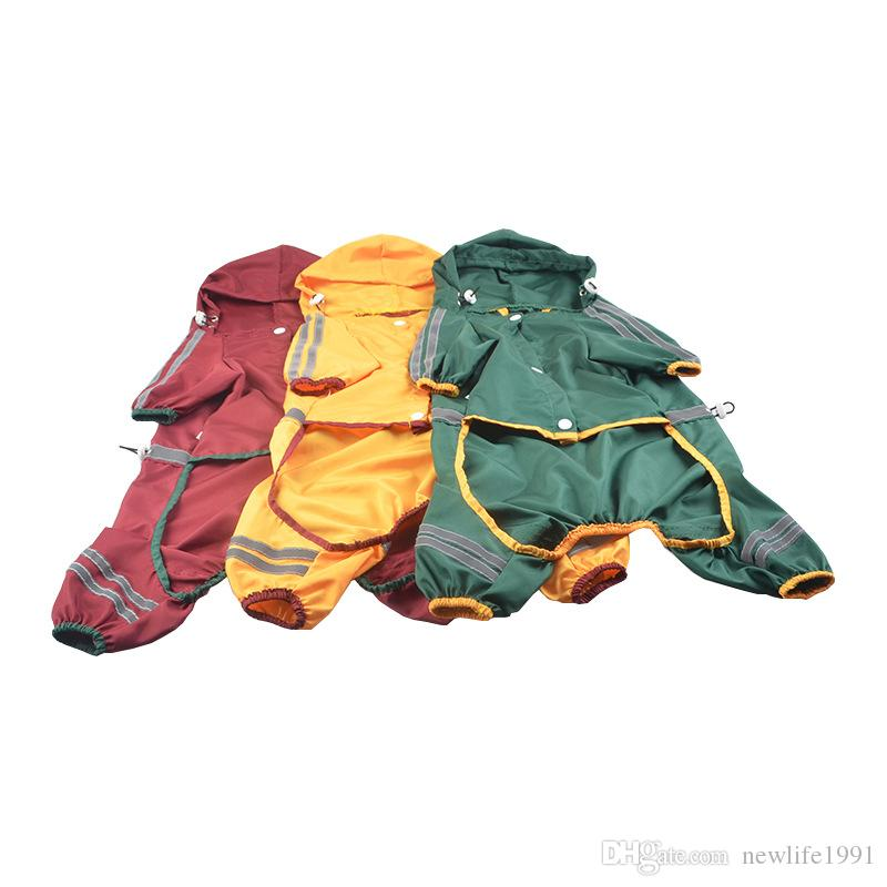 Puppy Raincoat Dog Cool Raincoats With Cap Hoody Waterproof Clothing Lovely Jackets Coat Pet Apparel Clothes For Dogs
