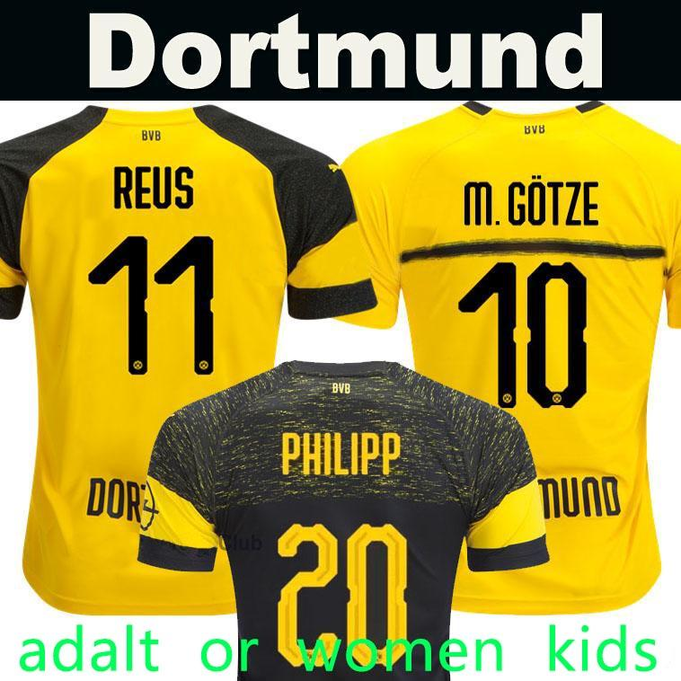 1a464f50105 Thailand Quality BVB Borussia Dortmund Soccer Jersey 2019 PHILIPP GOTZE  REUS PULISIC WITSEL Jersey 18 19 PACO ALCACER Football Kit Shirt Canada  2018 From ...