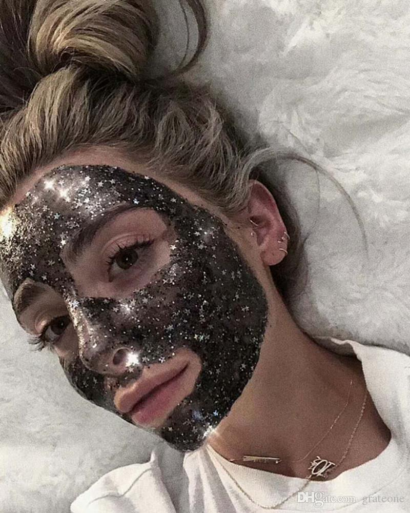 faced Radiance Boosting give yourself a glow job mask Glitter face mask soft facial mask DHL freeshippping