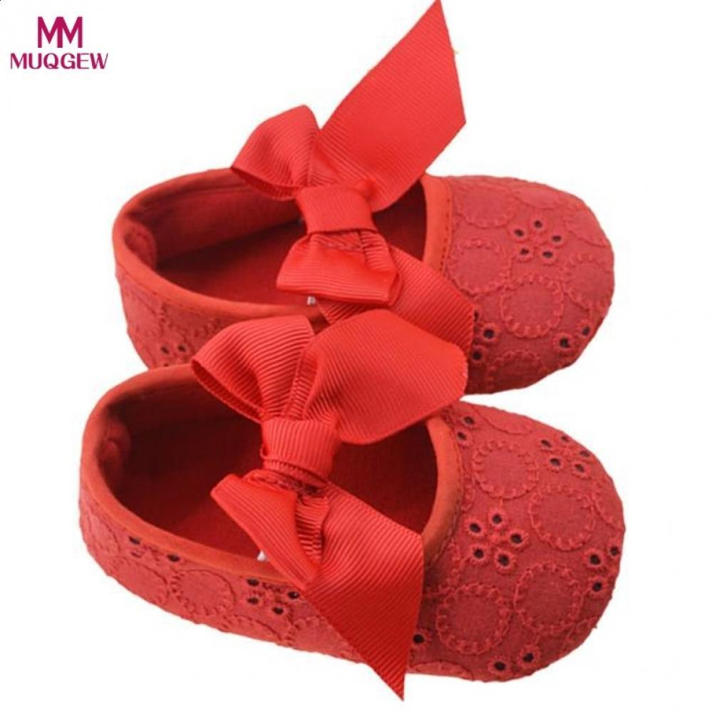 323fef2474b 2019 First Bowknot Walker Soft Girl New Black Red Bottom Prewalker Baby  Purple Girls Bowknot Yellow Flower Ribbon Infant Cotton Shoes From  Benedicty