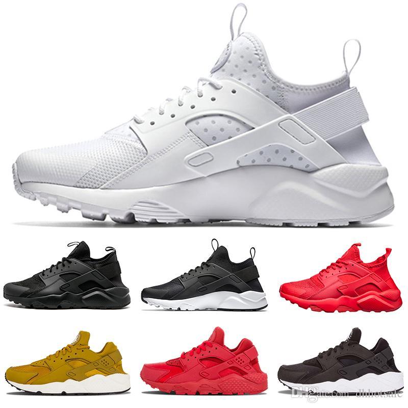 new concept e2bfa ad062 Acquista Nike Air Huarache Shoes Vendita All ingrosso Huarache 1 Scarpe Da  Corsa Uomo Donna Classic Oro Grigio Triple Nero Bianco Rosso Huaraches  Trainer ...