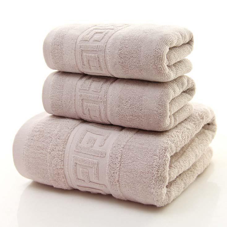 b4cd7c37e99b Compre Toalha De Rosto De Banho Conjunto 100% Algodão Macio Mais Grosso  Toalhas De Banho De Luxo Toalhas De Banho Para Adultos Presente Serviette De  Plage ...
