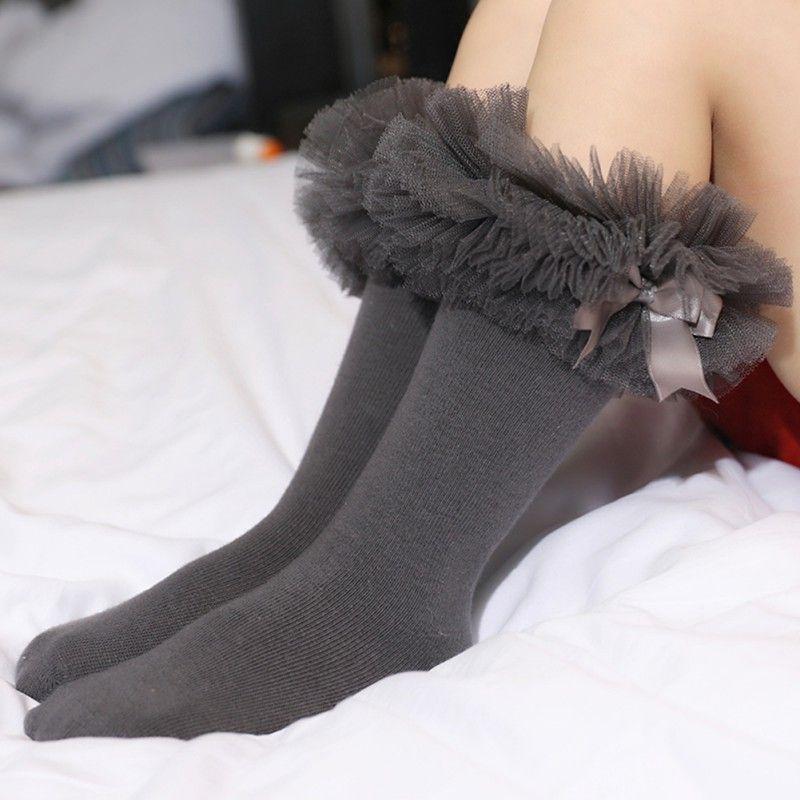 a25a09f214549 Spring Baby Girl Socks Infant Knee High Bows Princess Socks Cute Baby Long  Tube Booties Vertical Striped Sokken Kids Sock Dress Socks Knee High Socks  From ...