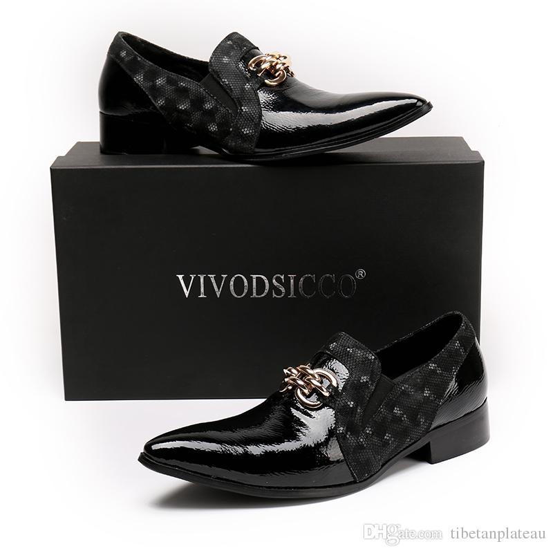 b3a0d8d5cd41d6 Acheter Nouveau Designer De Mode En Cuir Verni Hommes Chaussures Habillées  Italien De Mariage Formelle Chaussures Hommes Oxford Chaussures Hommes ...