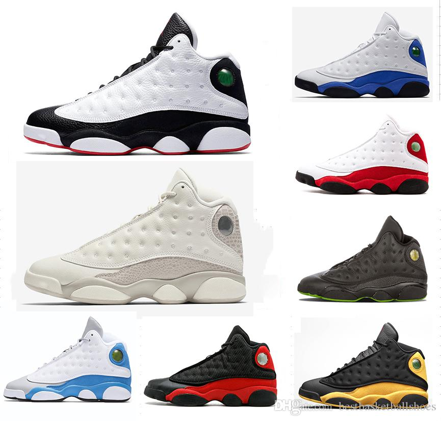 b369dcae5f4b81 New Phantom 13s He Got Game Men Basketball Shoes 13 XIII Black Cat Hyper  Royal Olive DMP Chicago Bred Barons Altitude Sneakers S41-47 13s Basketball  Shoes ...