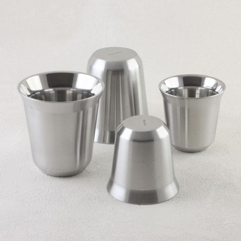 Double Wall Stainless Steel Espresso Coffee Mug