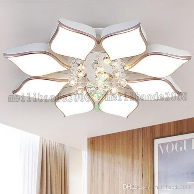 Ceiling Lights & Fans Pendant Lights Simple Luxury Crystal Chandelier Circle Creative Led Lamps Chandeliers Bedroom Den To Assure Years Of Trouble-Free Service