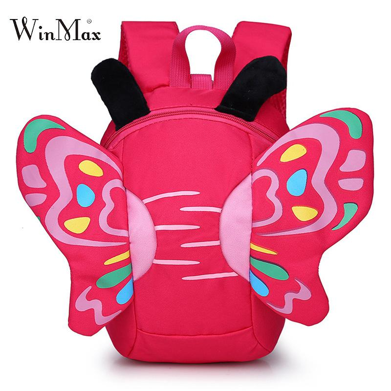 3ad2abc0c5 2018 New Butterfly School Bags For Girls Boys Children S Backpacks Cute Kids  Small Bag Kindergarten Backpack Anti Lost Mochila Y18100805 Designer  Backpacks ...