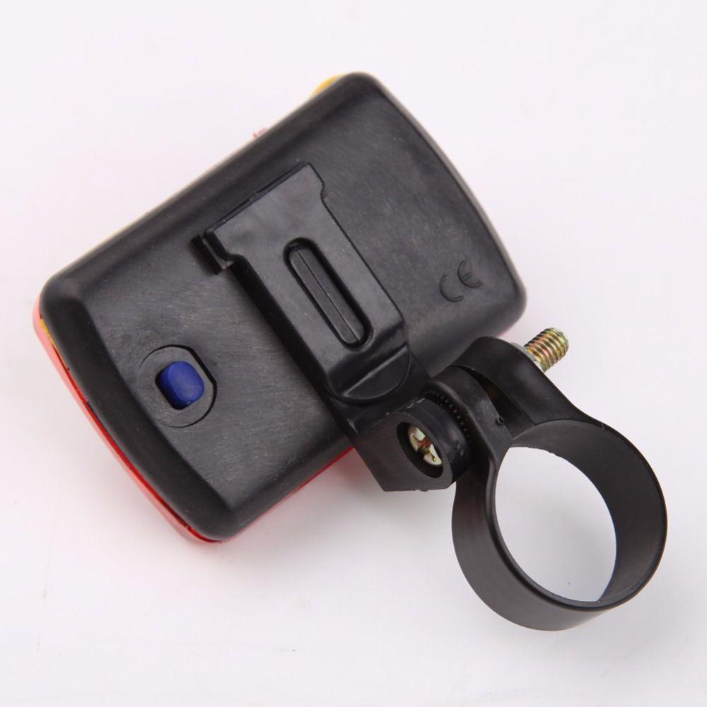 Heißer Verkauf Fahrrad 5 LED Rücklicht Radfahren Rotlicht MTB Bike Sicherheit Warnung Blinklichter ohne Batterie