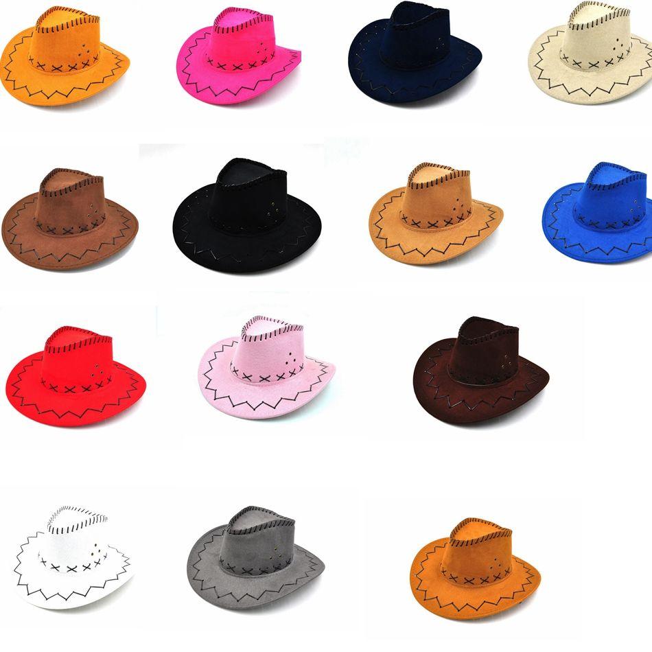Compre es Western Cowboy Hats Hombres Mujeres Niños Brim Caps Retro Sun  Visor Caballero Sombrero Vaquera Brim Sombreros GGA965 A  2.4 Del  Ljj sunglasses ... 4cf674785db
