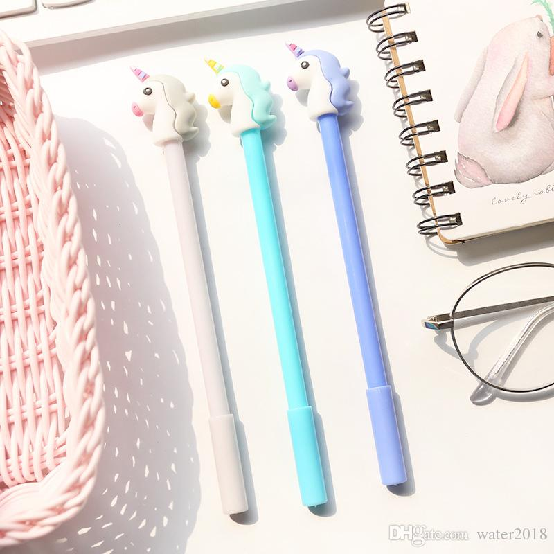 Girl Heart Cartoon Unicorn Student Writing Pen Office Eexamination Limited Office Material School Supplies Free DHL 1208