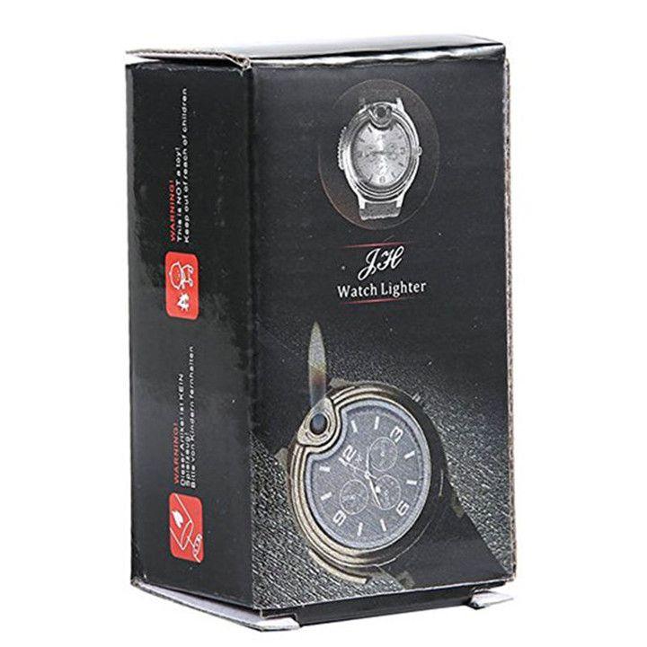 Military Lighter Watch Novelty For Man Women Quartz Sports Refillable Butane Gas Cigarette Cigar Watches with diamond